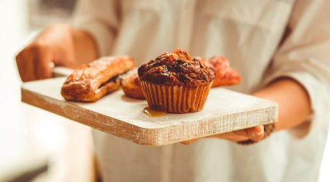 muffins on a tray